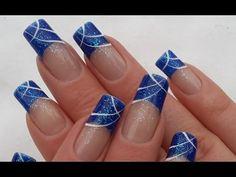 Einfaches Abstraktes Nageldesign selber machen / Party Nägel / Easy Nail Art - YouTube