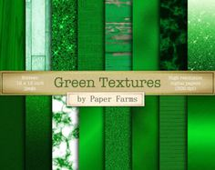 Green textures, green digital paper, marble, brushed metal, foil, glitter, ombre, metal flake, kraft paper, wood, burlap, brick, DOWNLOAD