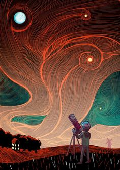 """Galileo's Telescope"" Illustration by Jake Reeves"