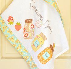 Mason Jars tea towel kit by Joanna Figueroa on Fresh Figs...adorable!!!