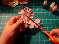 How to make butterflies from flowers - YouTube video tutorial