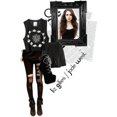 Liz Gillies / Jade West inspired outfit by kendallandkyliefashion on Polyvore featuring Kardashian Kollection and Oris