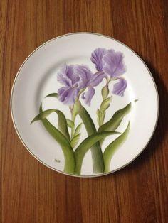 """Pratos """" Botânica"""" pintados a mão"""