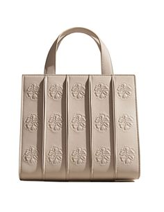 Max Mara Whitney bag by Renzo Piano Building Workshop beige color, floral ornament pattern slightly raised In collaboration with Renzo Piano Building Workshop, two exclusive limited editions, inspired by Gertrude Vanderbilt Whitney who founded the Whitney Museum of American Art of New York, limited edition in 250 pieces. Sizes: width 26 cm, height 22 cm, depth 14 cm Composition : 100% calf leather Made in Italy