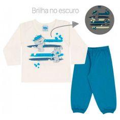 Pijama de Bebê Que Brilha no Escuro para Menino