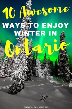 10 Awesome Ways to Enjoy Winter in Ontario ? The World As I See It : 10 Awesome Ways to Enjoy Winter in Ontario, Canada - from the best Christmas Markets to things to do in winter for the more adventurous! Vancouver, Toronto, Ontario Travel, Ontario Camping, Travel Usa, Globe Travel, Travel Tips, Travel Advice, Beach Travel