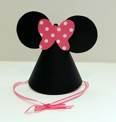 Love & Sugar Kisses: Tutorial: Minnie Mouse Party Hats