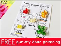 Free Gummy Bear Graphing is the perfect way to review a unit on collecting, graphing, and interpreting data! First and second graders will enjoy applying their knew knowledge in a fun and editable way!