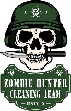 Zombie Logo, Zombie T Shirt, Zombie Art, Zombie Apocalypse, Apocalypse Survivor, Zombie Themed Party, Zombie Birthday, Security Badge, Zombie Hunter