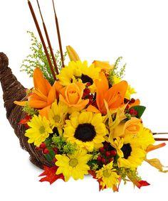 York Flowers - Washington DC Florist - Annapolis MD Florist - Rustic Cornucopia, $65.00 (http://www.yorkflowers.com/rustic-cornucopia/)