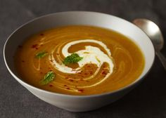 Winter Squash Soup with Chile and Mint