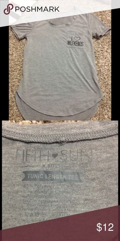 Excellent condition grey top with pocket detail Excellent condition Fifth Sun Tops Tees - Short Sleeve