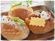 boiled egg hello kitty sandwich