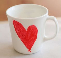 This Valentine Mug is a Fantastic Way to Show Some Warmth #diy #valentine trendhunter.com