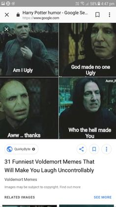 Funny Harry Potter Memes Voldemort both Harry Potter House Quiz Emily Arte Do Harry Potter, Harry Potter Puns, Harry Potter Wizard, Harry Potter Cast, Harry Potter Characters, Harry Potter Universal, Harry Potter World, Voldemort, Draco Malfoy