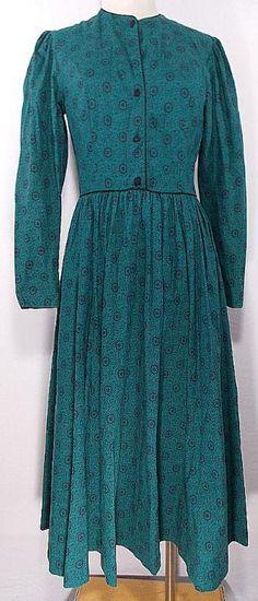 VINTAGE 80s Laura Ashley Dress Sz M Floral Cotton Full Party Great Britain