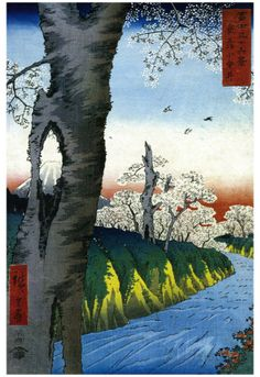 Utagawa Hiroshige (The Thirty-six Views of Mt. Fugi, No. 12 Musashi Koganei) Art Poster Print Posters sur AllPosters.fr