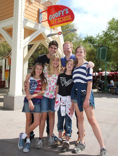Actor Jesse Tyler Ferguson visited in 2011 with friends and family at Disney California Adventure park. With actor Justin Mikita and his nieces and nephew, Jesse started his special day with a flight lesson at Goofy's Sky School.