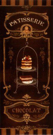 Vintage poster: Patisserie chocolat