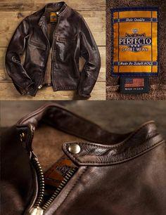 Schott NYC Perfecto Vintage Cafe Racer Jacket