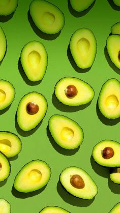 This is a healthy recipe for kids and adults for avocado boats by Glitter and Bubbles. It shows readers 3 ways to eat the recipe Food Wallpaper, Green Wallpaper, Wallpaper Backgrounds, Iphone Wallpaper, Fruit Photography, Orange Aesthetic, Shades Of Green, Aesthetic Wallpapers, Cute Wallpapers