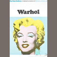 Andy Warhol (American, 1928-1987) Marilyn Offset lithograph printed in colours, 1971, on thin wove, signed in black ink, from an edition of 500, published by Tate Gallery, London, with full margins, 750 x 500mm (29 1/2 x 19 5/8in) (SH) Estimate: £1,500 - 2,000 €1,900 - 2,500 US$ 2,300 - 3,100