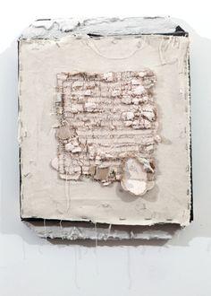 Arthur Peña. Mixed Media - canvas, staples, drywall, scorched pine, hydrocal
