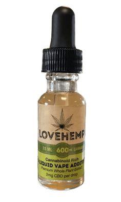 CBD Vape Additive e Liquid by Love Hemp UK (600mg in 15ml)