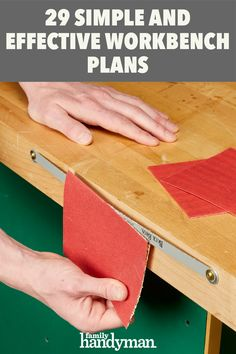 29 Simple and Effective Workbench Plans Building A Workbench, Workbench Plans, Workshop Organization, Organization Hacks, Workshop Ideas, Woodworking Garage, Woodworking Projects, Diy Garage, Garage Ideas