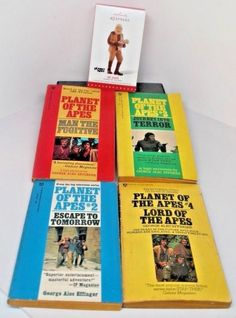 PLANET of the APES all FOUR books TV Series George Alec Effinger + FREE Zaius