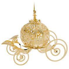 Every Princess' holiday will be a ball with our beautifully detailed Cinderella Coach Ornament. Made exclusively for the Disney Theme Parks by Baldwin®, this collectible Christmas treasure has a glistening gold finish. Cinderella Coach, Cinderella Carriage, Cinderella Wedding, Cinderella Bedroom, Noel Christmas, All Things Christmas, Christmas Crafts, Christmas Colors, Disney Christmas Decorations