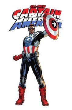 Captain America (Sam Wilson) by Sara Pichelli