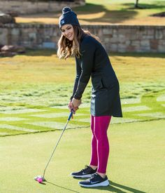 Cute #womens golf apparel! #Nike Ponte Golf Dress for Fall and Winter #golf