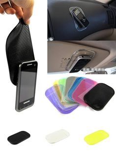 [Visit to Buy] 2017 Desk Anti-slip Sticky Pad Mat in Car for Gadgets Accessory car phone shelf antislip mat GPS mp3 cell holder Car Accessories #Advertisement