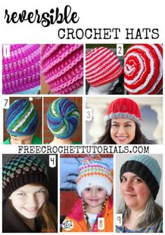Roundup: 10 free crochet patterns for reversible hats, curated by Free Crochet Tutorials