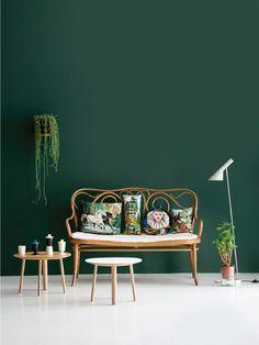 Einfach nur wow! Wandfarbe Emerald Grün. #Wandgestaltung #Wandfarbe #Emerald #Grün #Green