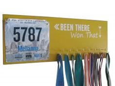 Medal holder for long distance races runners - Been there & won that design - Running On The Wall