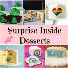 Surprise Inside Desserts - Page 2 of 2 - Princess Pinky Girl Christmas Food Treats, Christmas Desserts, Holiday Treats, Christmas Foods, Christmas Baking, Surprise Inside Cake, Princess Pinky Girl, Beautiful Desserts, Just Cakes