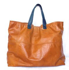 """Huge upcycled leather """"Big Easy Tote"""" by www.uptownredesigns.com - holds everything!"""