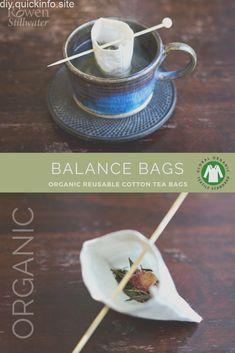 Balance Bags: Organic reusable tea bags Zero waste reusable tea bags made from . - Balance Bags: Organic reusable tea bags Zero waste reusable tea bags made from organic cotton with - Nature Crafts, Home Crafts, Diy And Crafts, Diy Organizer, Zero Waste, Jute, Diy Tea Bags, Bio Tee, Diy Purse