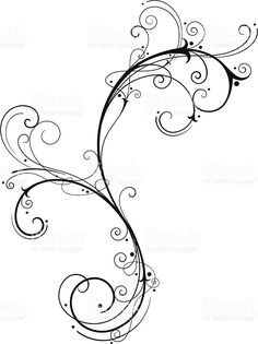Fine Filigree royalty-free fine filigree stock vector art & more images of art Vine Tattoos, Irish Tattoos, Cool Tattoos, Tatoos, Filagree Tattoo, Swirl Tattoo, Flourish Tattoo, Tattoo Hals, Tattoo Neck