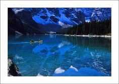 Look at that water! Camping in Banff National Park in Canada is on my to-do-list.