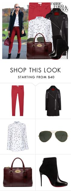 """""""757. Blogger Style: Brooklyn Blonde"""" by dhiraap ❤ liked on Polyvore featuring Oris, Vera Wang, MANGO, Equipment, Ray-Ban, Mulberry and Christian Louboutin"""