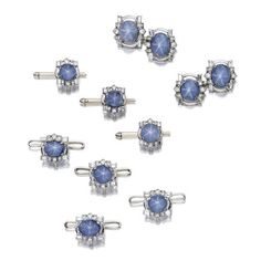 A star sapphire and diamond dress set