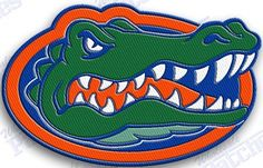 FREE SHIPPING IN THE USA  - FLORIDA GATORS  iron on embroidery patch - 2.2 X 1.8  iNCHES   100% EMBROIDERED PATCHES  UNIVERSITY COLLEGE STATE OF SPORTS FOOTBALL BASKETBALL THE SWAMP