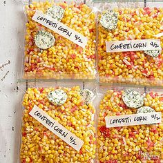 Freezer Confetti Corn from Better Homes and Gardens