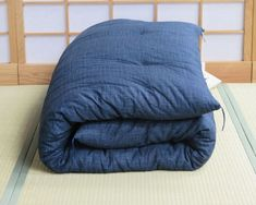 Dark-blue-double-futon