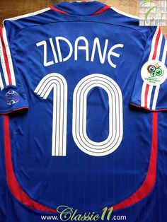 f149ba125 Relive Zinedine Zidane s 2006 World Cup with this vintage Adidas home football  shirt.