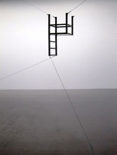 Bruce Nauman (USA)- Untitled (Suspended Chair, Vertical III) - 1987  Collection Magasin 3 Stockholm Konsthall