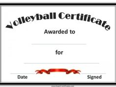 Free ship volleyball gift custom volleyball necklace girls a variety of free printable volleyball certificate templates many more free sports awards and award certificates on this site yelopaper Image collections